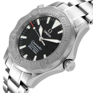 Omega Seamaster 36mm Midsize Black Wave Dial Steel Watch