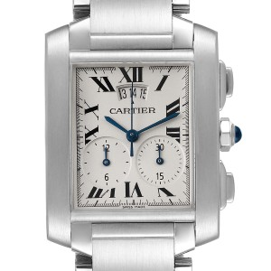 Cartier Tank Francaise Chrongraph Steel Mens Watch W51024Q3