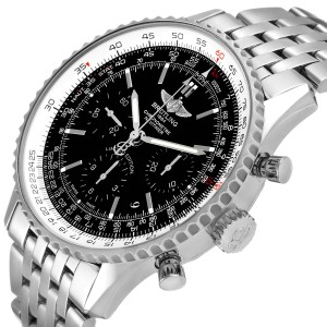 Breitling Navitimer 01 Black Dial Limited Edition Watch AB0121 Box Papers