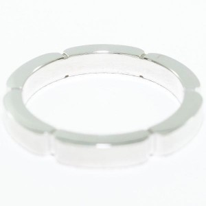 Cartier 18K White Gold Maillon Panthere  Ring Size 3.75