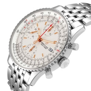 Breitling Navitimer Heritage Silver Dial Steel Mens Watch A13324 Box Papers