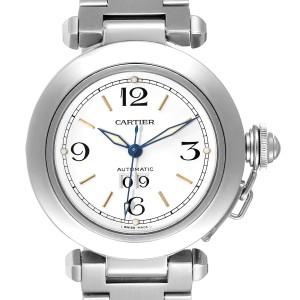 Cartier Pasha C Midsize White Dial Steel Unisex Watch