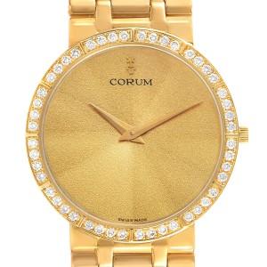 Corum 18k Yellow Gold Prism Crystal Diamond Mens Watch 50.128.65