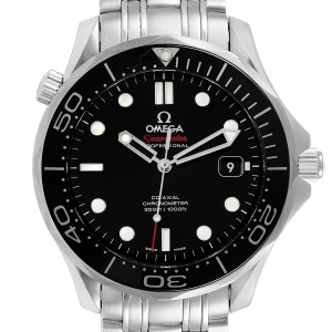 Omega Seamaster Co-Axial Black Dial Steel Mens Watch