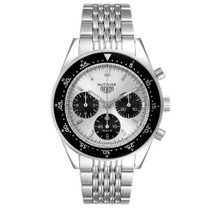 Tag Heuer Autavia Heritage Silver Dial Steel Mens Watch