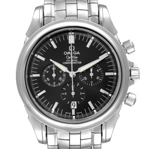 Omega DeVille Co-Axial Chronograph Steel Mens Watch 4541.50.00 Box Card