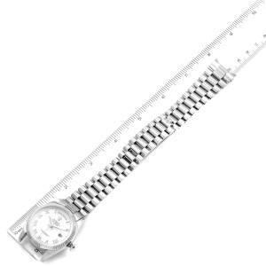 Rolex Day Date 36mm President White Gold White Dial Mens Watch