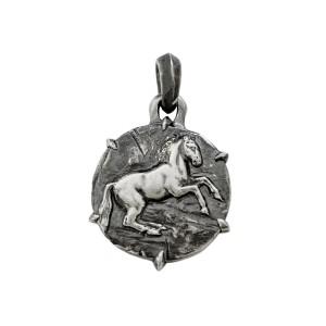 David Yurman Sterling Silver Petrus Horse Amulet Pendant