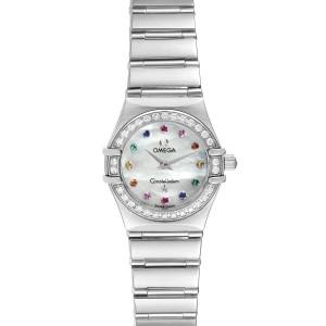 Omega Constellation Iris Steel Multi Stone Ladies Watch 1460.79.00