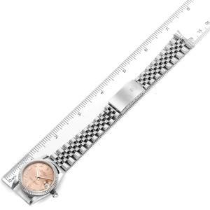 Rolex Datejust Midsize Steel White Gold Salmon Dial Ladies Watch