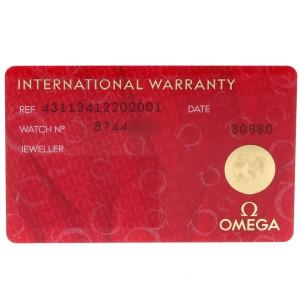 Omega DeVille Annual Calendar Steel Mens Watch 431.13.41.22.02.001 Box Card