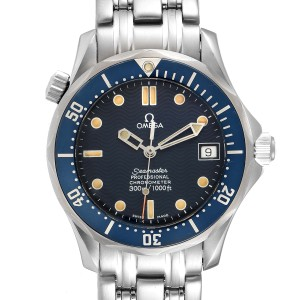 Omega Seamaster Midsize 36mm Blue Dial Steel Mens Watch 2551.80.00 Card