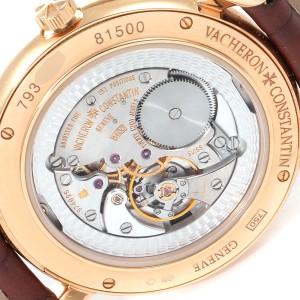 Vacheron Constantin Malte Grande Rose Gold Diamond Watch 81500 Papers