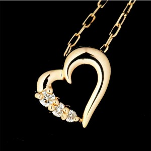 4C 18k pink gold Diamond Necklace