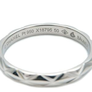 CHANEL Small Platinum Matelasse Ring