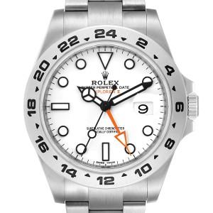 Rolex Explorer II 42 White Dial Orange Hand Mens Watch 216570 Box Card