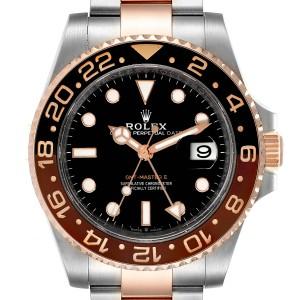 Rolex GMT Master II Steel Everose Gold Mens Watch 126711 Box Card