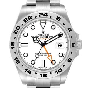 Rolex Explorer II 42 White Dial Orange Hand Mens Watch 216570