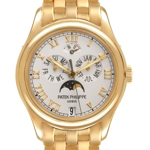 Patek Philippe Annual Calendar Moonphase Yellow Gold Mens Watch