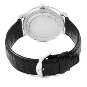 IWC Portofino Black Dial Automatic Steel Mens Watch