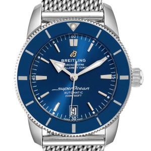 Breitling Superocean Heritage II 42 Blue Dial Steel Watch AB2010 Box Papers
