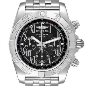 Breitling Chronomat 01 Black Dial Chronograph Steel Mens Watch AB0110