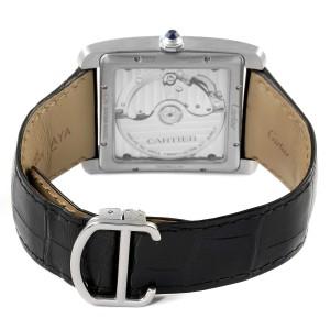 Cartier Tank MC Blue Dial Automatic Steel Mens Watch WSTA0010