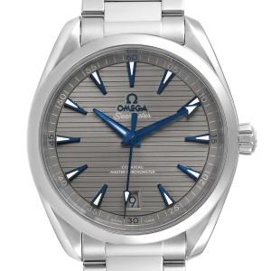 Omega Seamaster Aqua Terra Grey Dial Mens Watch 220.10.41.21.06.001 Box Crad