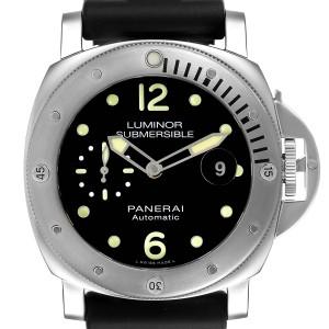Panerai Luminor Submersible 44mm Steel Mens Watch PAM01024 Box Card