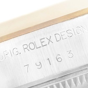 Rolex Datejust Steel Yellow Gold MOP Dial Ladies Watch 79163 Box Papers