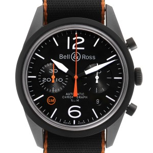 Bell & Ross Vintage Carbon Orange Limited Edition Mens Watch BRV126 Unworn