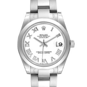 Rolex Midsize 31 Datejust White Dial Steel Ladies Watch 178240 Unworn