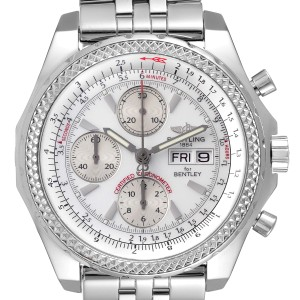 Breitling Bentley Motors GT Silver Dial Chronograph Mens Watch A13362