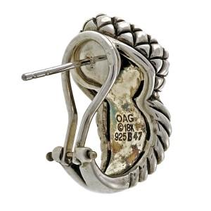 Asch Grossbardt 925 Sterling Silver & 18K Yellow Gold Mother Of Pearl Earrings