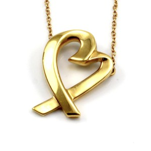 Tiffany & Co. Paloma Picasso 18K Yellow Gold Loving Heart Necklace