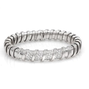 Roberto Coin 18K White Gold with 0.63ct. Diamond Cuff Bracelet