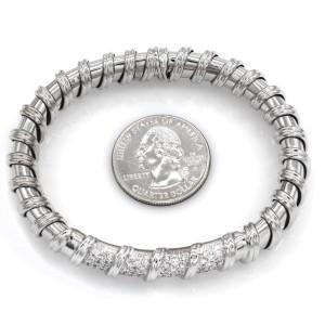 Roberto Coin 18K White Gold with 0.63ct. Diamond Cuff Bracelet