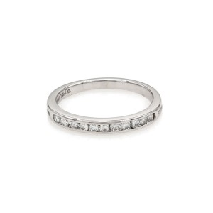 Tiffany & Co. Platinum with 0.15ct. Diamond Band Ring Size 4.5