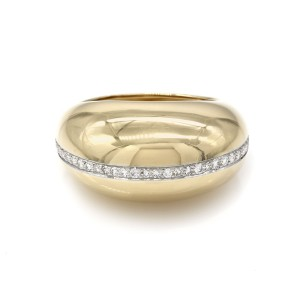 Tiffany & Co. Paloma Picasso 18K Yellow Gold and Platinum 0.33ctw Diamond Ring Size 7.75