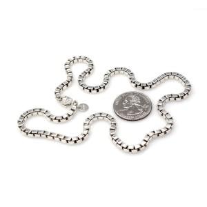 Tiffany & Co. 925 Sterling Silver Venetian Box Chain Necklace