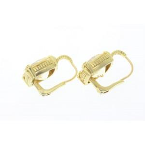 Judith Ripka 18k 18K Yellow Gold Diamond Earrings