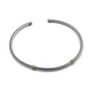 David Yurman Cable 14K Yellow Gold, Sterling Silver Necklace