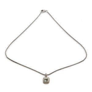 David Yurman Albion Sterling Silver Iolite, Diamond Necklace
