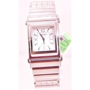 Ladies Seiko SWE011 Kinetic Stainless Steel Bracelet MOP Dial Watch