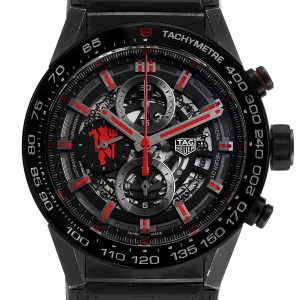 Tag Heuer Carrera Skeleton Dial Manchester United LE Watch CAR2A1J