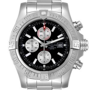 Breitling Aeromarine Super Avenger Black Dial Steel Watch A13371