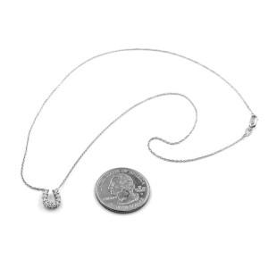 Roberto Coin Diamond Horseshoe Gold Necklace