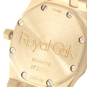 Audemars Piguet Royal Oak Quartz Champagne Dial Ladies Watch D6519