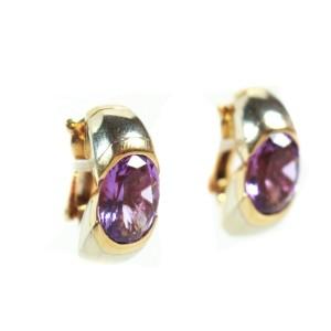 Marina B - Earrings - Amethyst - 18K Yellow Gold - Purple Stones