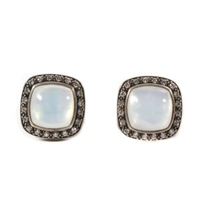 David Yurman - Rock Crystal Albion Stud Earrings - Diamond White Sterling Silver